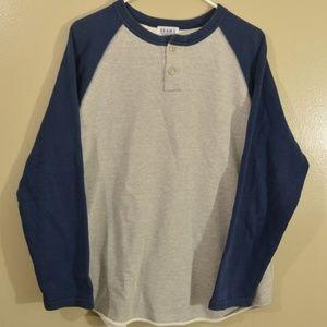 Beams Raglan Crewneck Sweatshirt Baseball Style